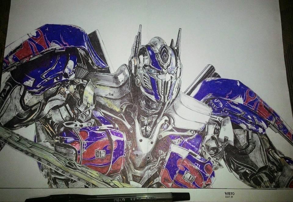 Optimus Prime Ballpoint Drawing By Fnieto On DeviantArt