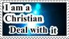 I am a Christian stamp