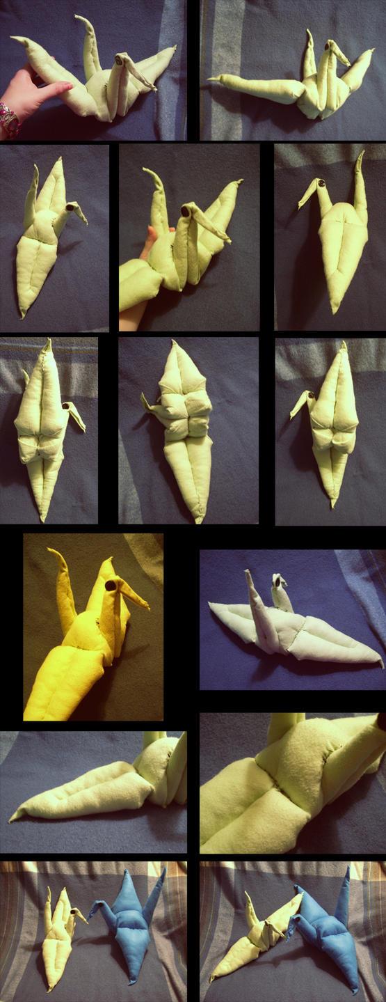 Origami Crane Plush 2 by Bobfleadip