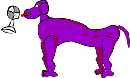 Boat request 8: WHOA NELLY PURPLE DOG by ve731