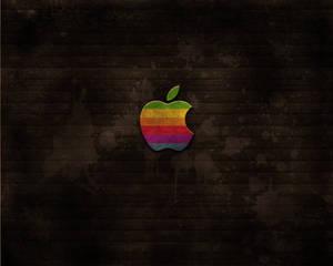 Apple vintage-like wallpaper