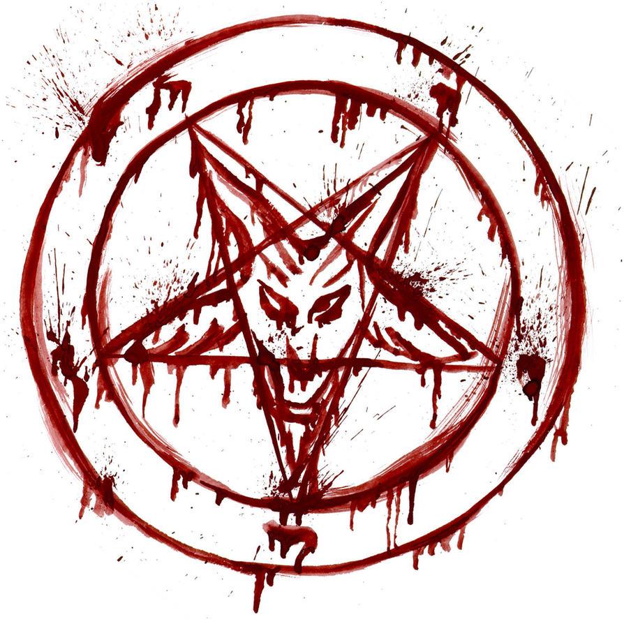 Blood Skull Pentagram by Demon-crossXfire