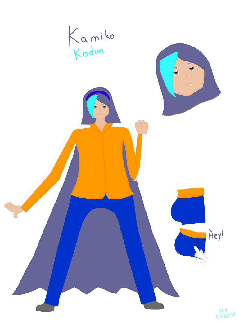 Kamiko Reference Sheet 2016 by Cat2999