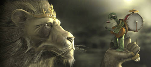 Lion and the Turtle by LiToKi