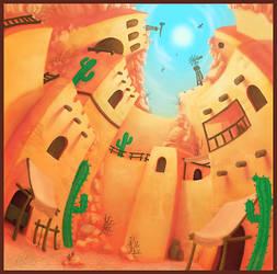 Desert city by LiToKi