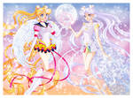 Eternal Sailor Moon and Cosmos by foogie