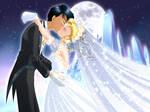 Usagi and Mamoru: Wedding Kiss