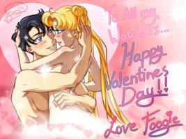 Happy Valentines Day! Usagi x Mamoru by foogie