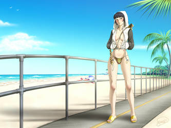 Commission - Beach Sui-Feng 2 by foogie