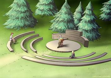 Landscape Renderings - Park Amphitheatre by foogie
