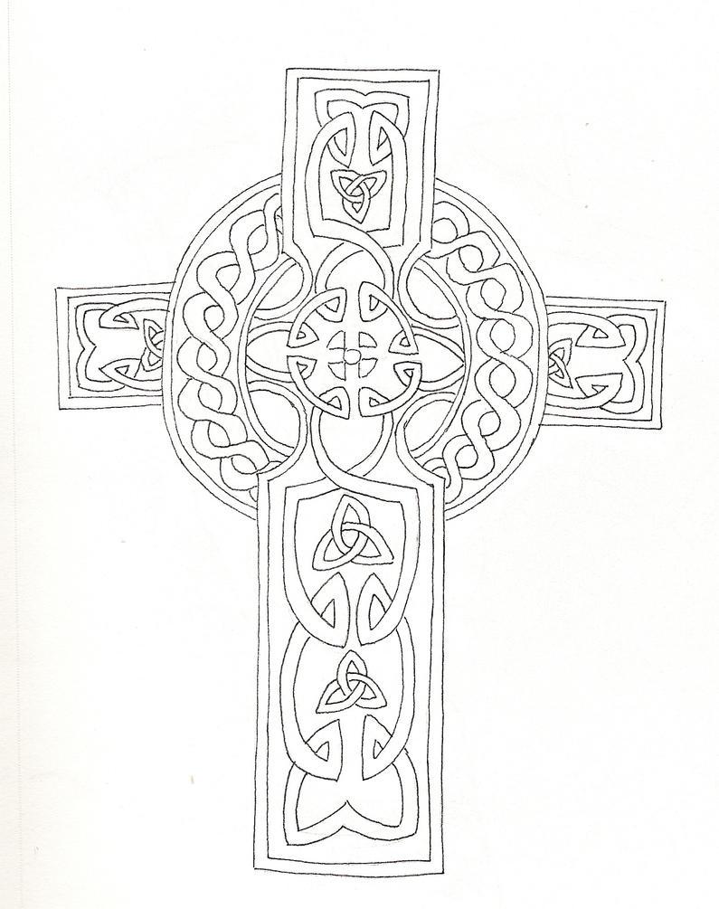 celtic cross by kattiger on deviantart