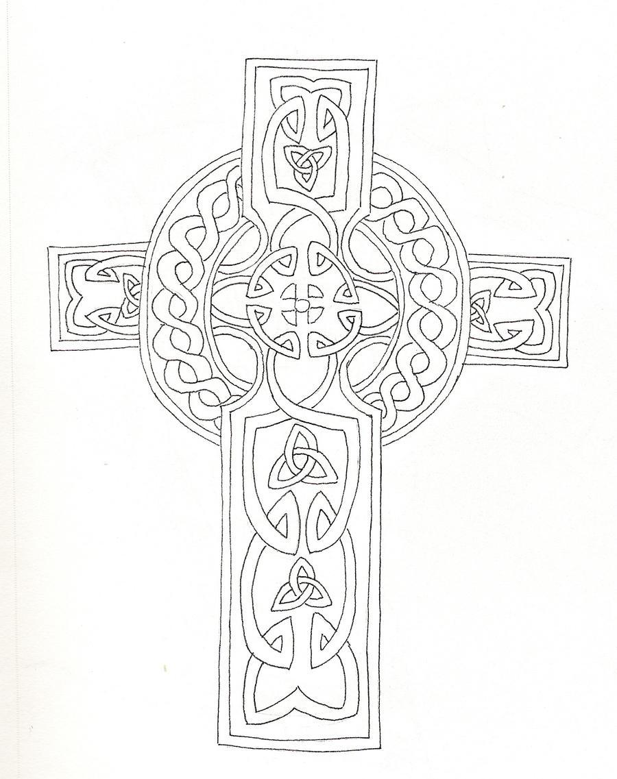 Celtic Cross Coloring Sheets Printable Coloring Pages Celtic Cross Coloring Pages