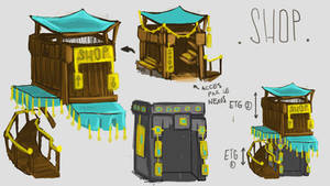 In-Game Shop - ConceptArt by Maka by PhaethonGames