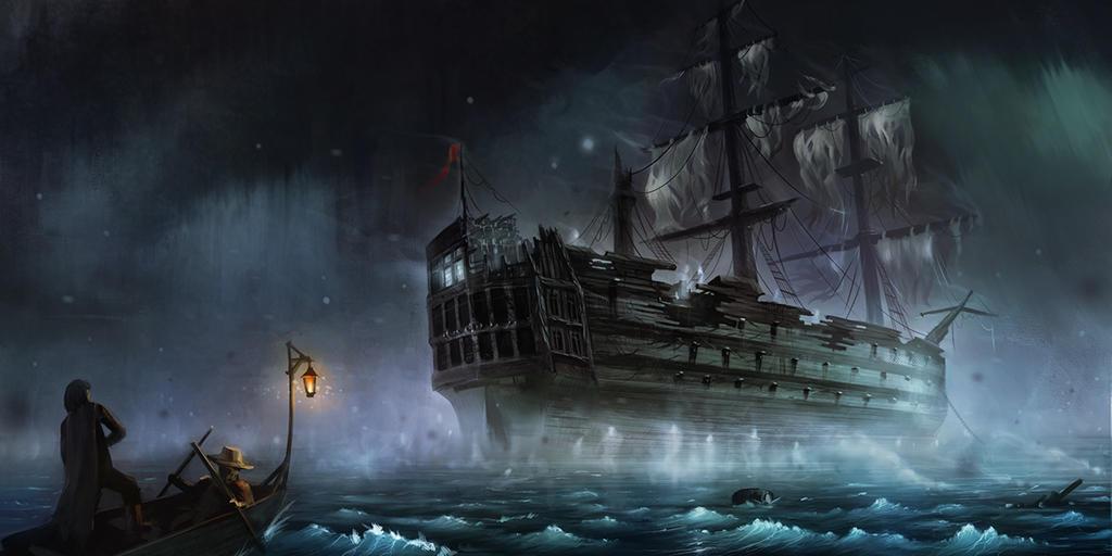ghost ship by runolite on deviantart