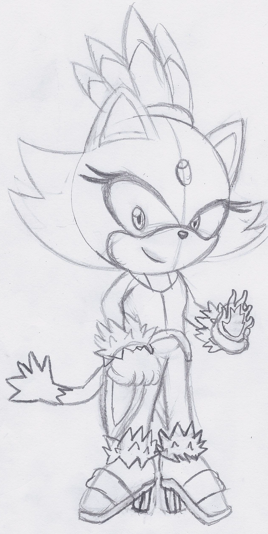 How to draw blaze the cat for Blaze the cat coloring pages