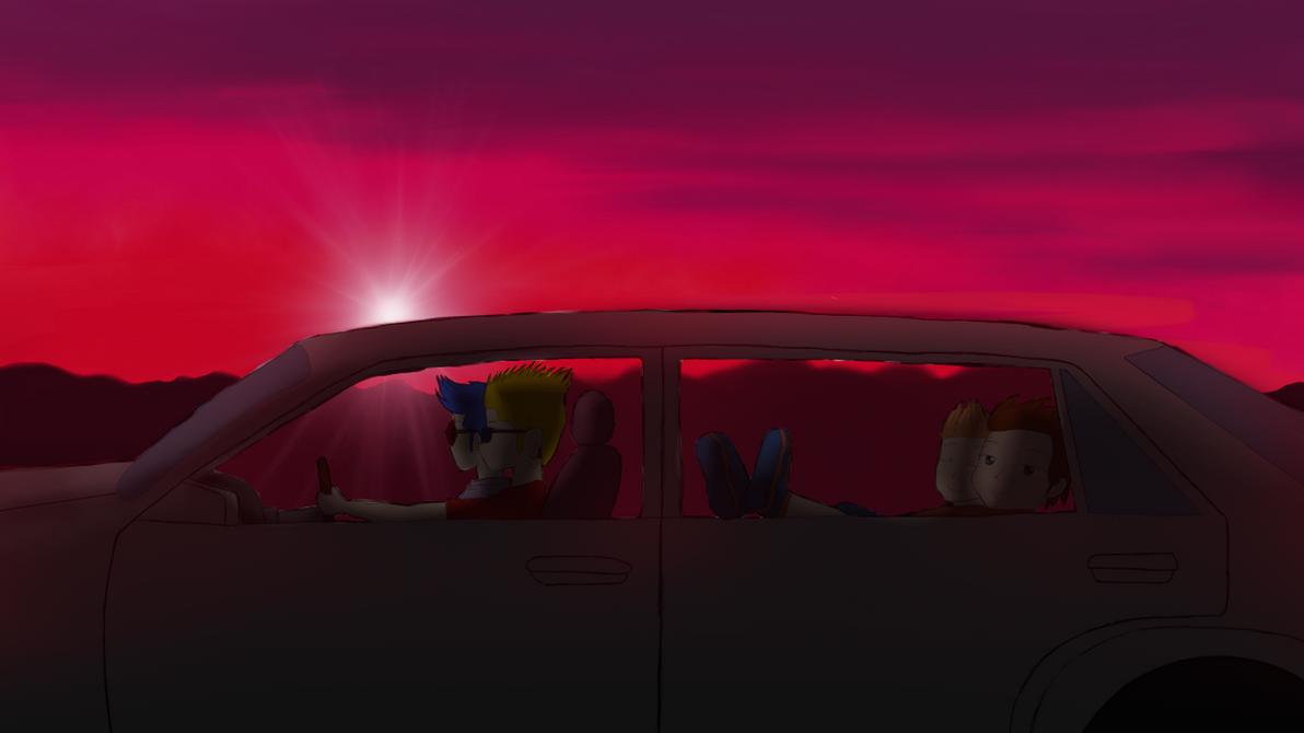 Bart On The Road  [Fanart] by LesterJam