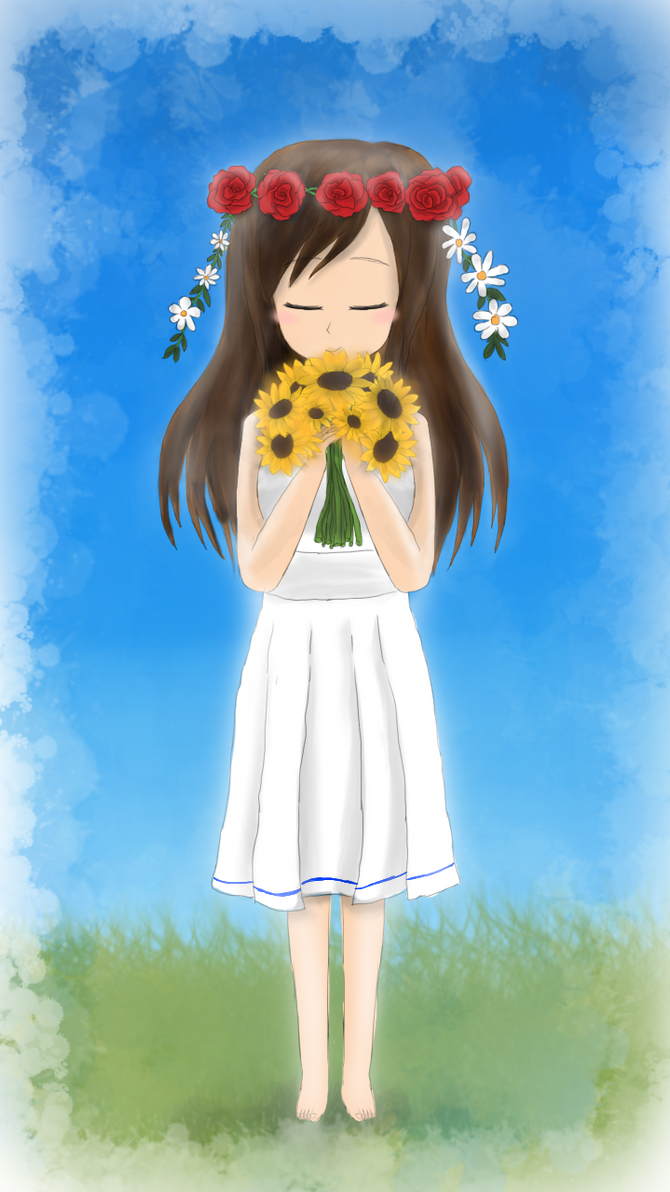 A Girl loves flowers by LesterJam