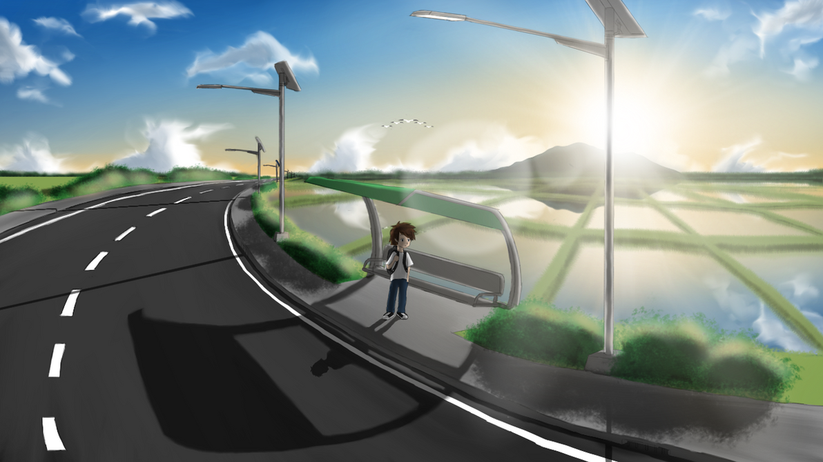 Waiting for a road transportation by LesterJam