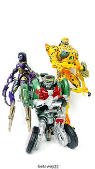 Beast Machines Blackarachnia, Rattrap and Cheetor