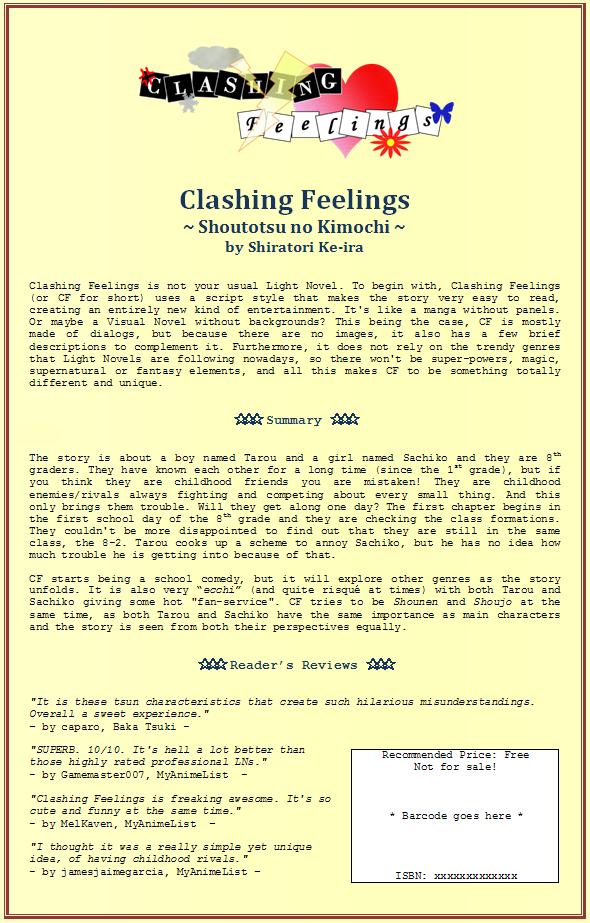 Clashing Feelings Back Cover