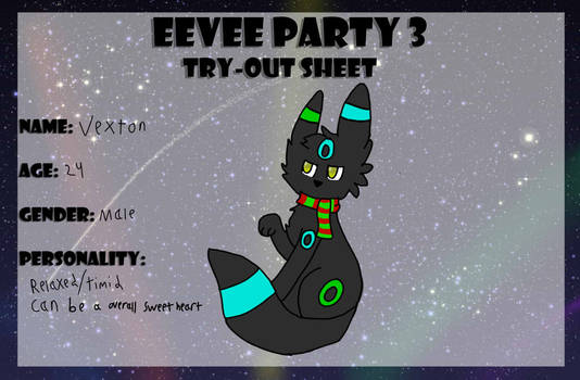 Vexton Eevee Party 3 Try-out Sheet