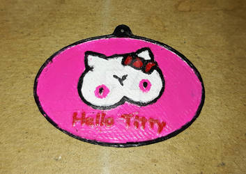 Hello Titty Keychain