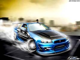 Nissan Skyline GTR Drifting by Faik05
