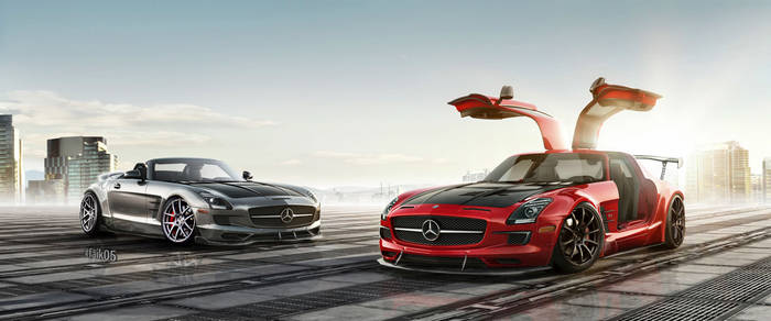 Mercedes-Benz SLS AMG GT And SLS AMG Roadster Work