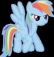 Rainbow Dash Vector by LilCinnamon