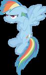A grumpy Rainbow Dash.