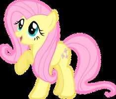 Fluttershy wingless - adorable by LilCinnamon
