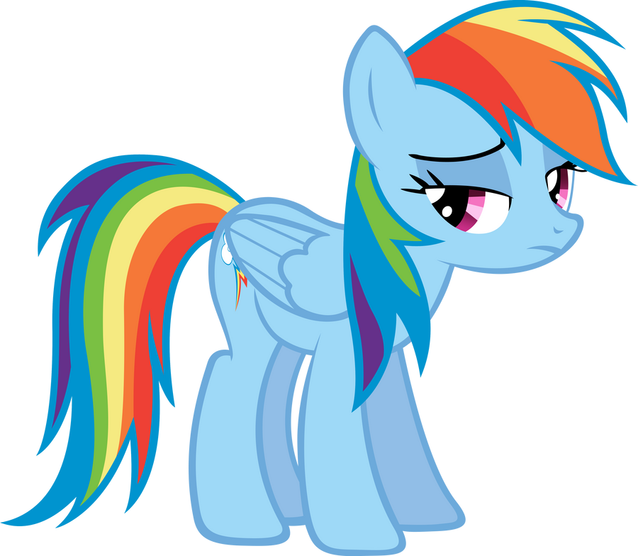 Crying Rainbow Dash An upset rainbow dash. by