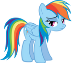 An upset Rainbow Dash. by LilCinnamon