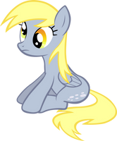 Derpy Hooves sitting. by LilCinnamon