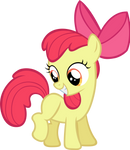 Apple Bloom all happy.