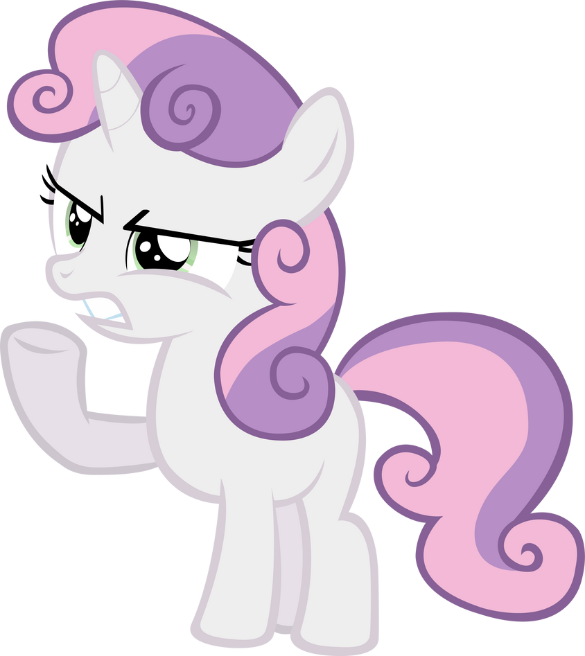 Sweetie Belle - Angry by LilCinnamon