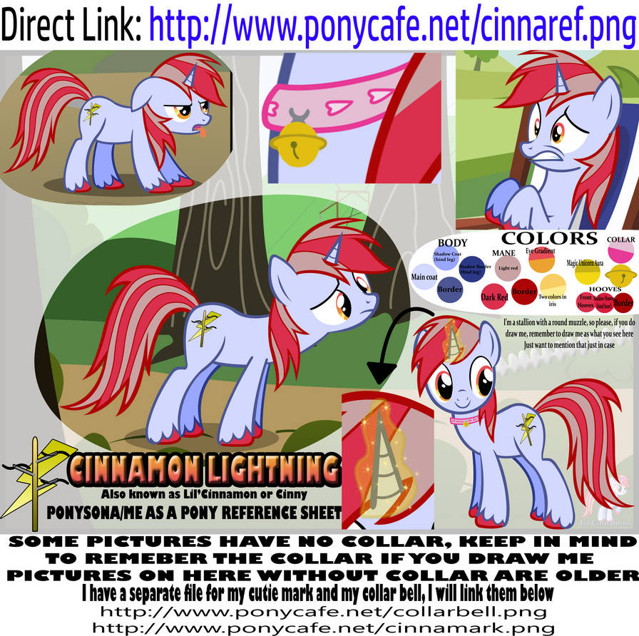 Cinnamon (me as a pony) reference sheet.