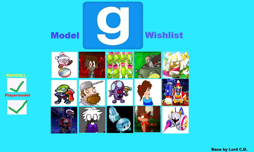 Gmod Model Wishlist Meme by magolorandmarx