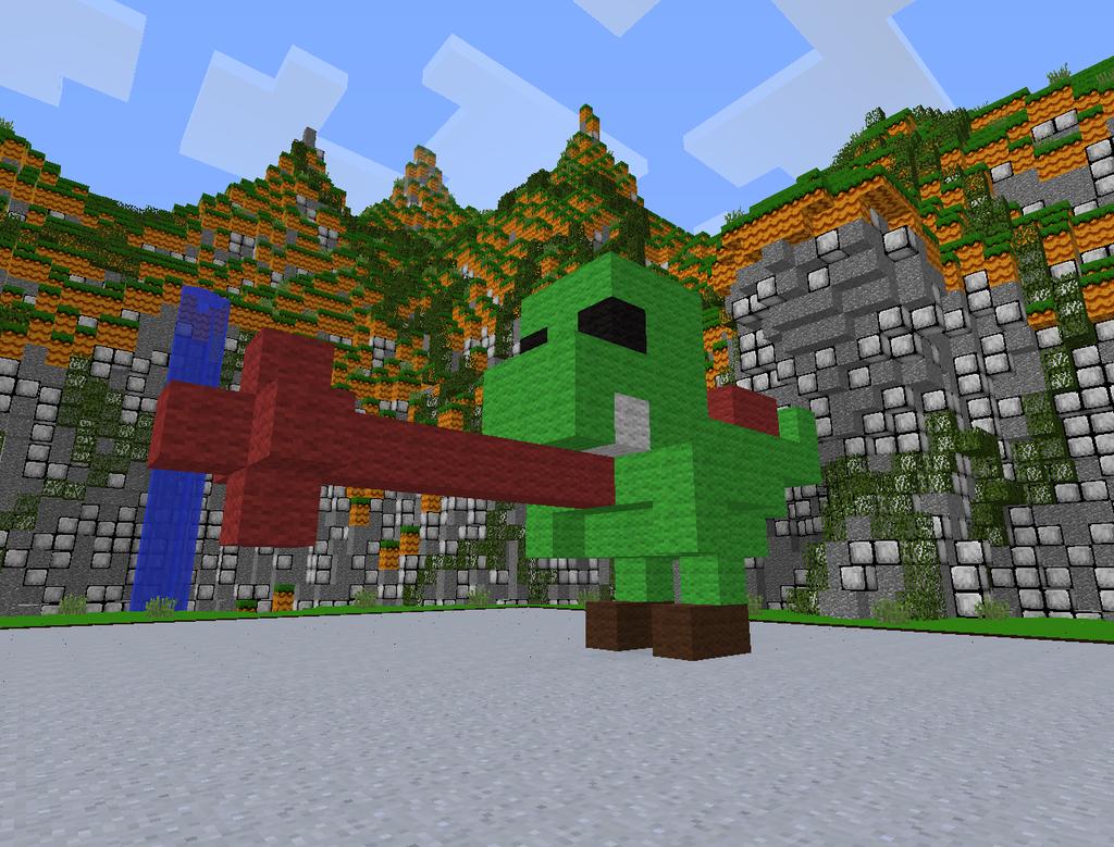 Minecraft Yoshi by magolorandmarx