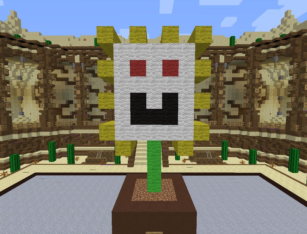 Minecraft Flowey by magolorandmarx