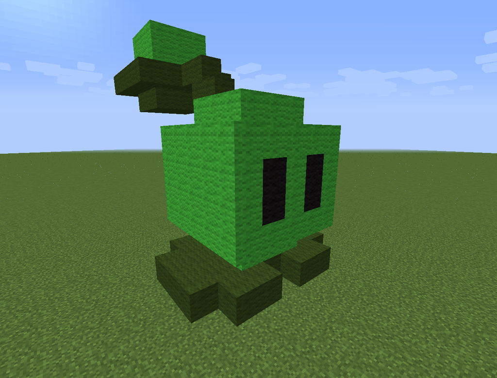 Minecraft Cabbage-pult by magolorandmarx