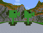 Minecraft Peashooter and Repeater