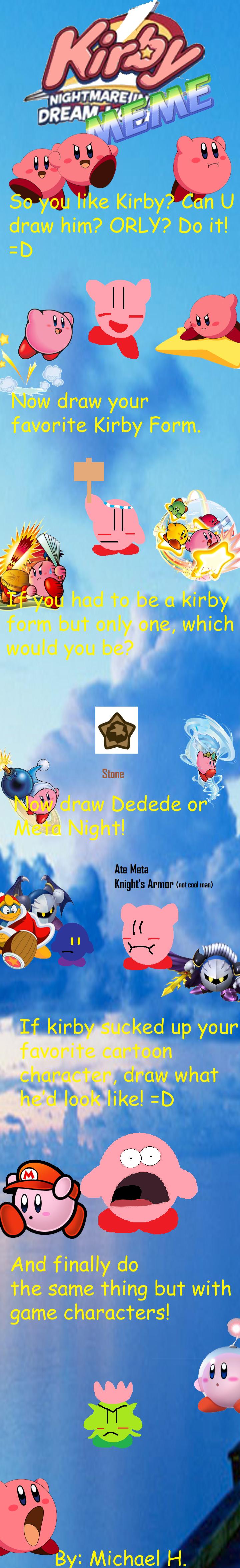 Kirby Meme by magolorandmarx