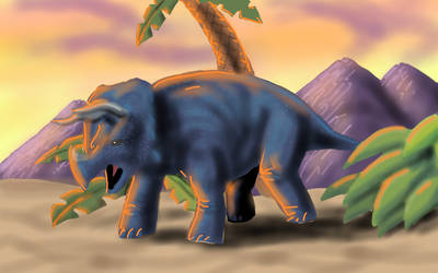 Triceratops without lines