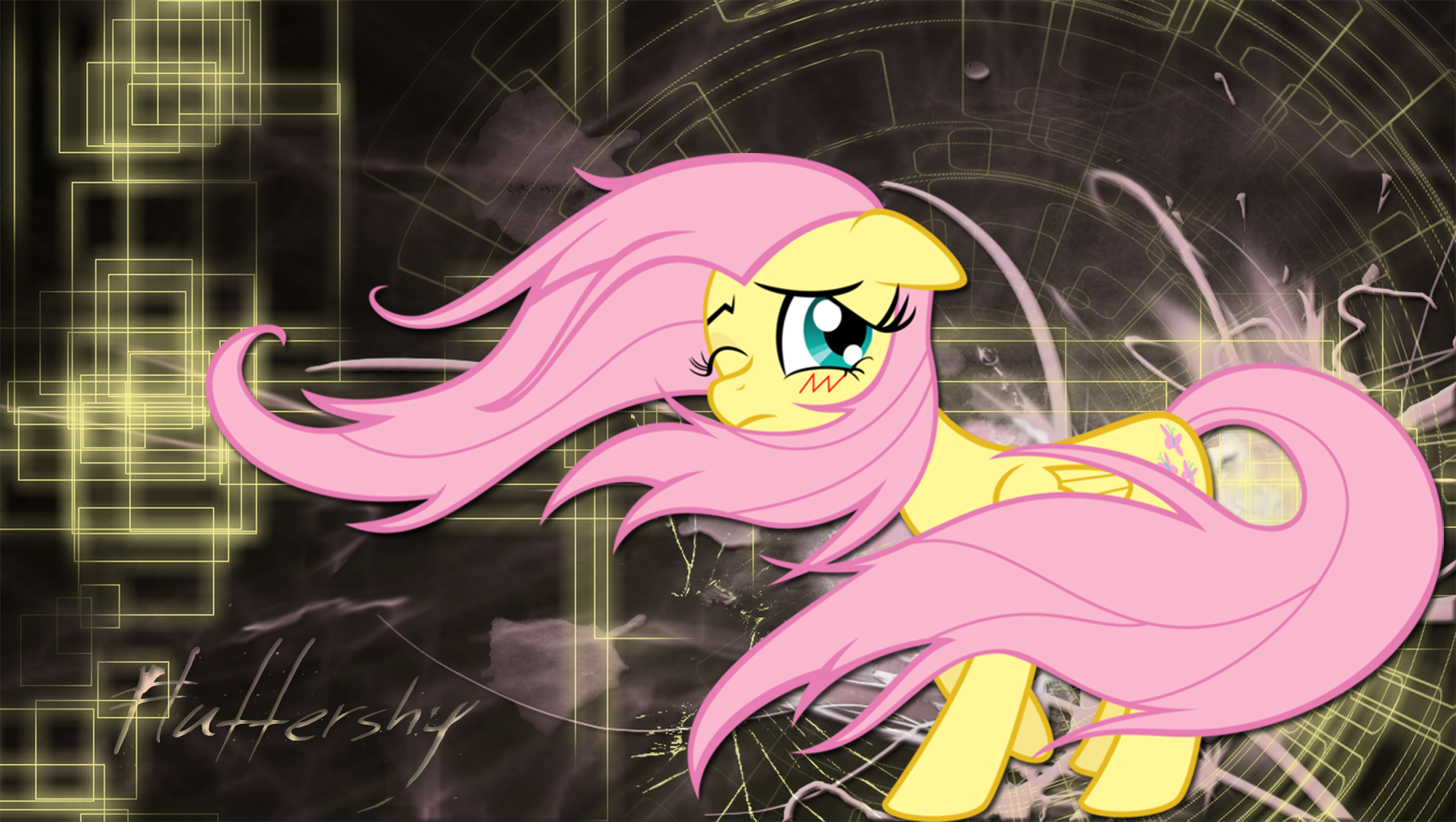 Fluttershy wallpaper by LeonBrony