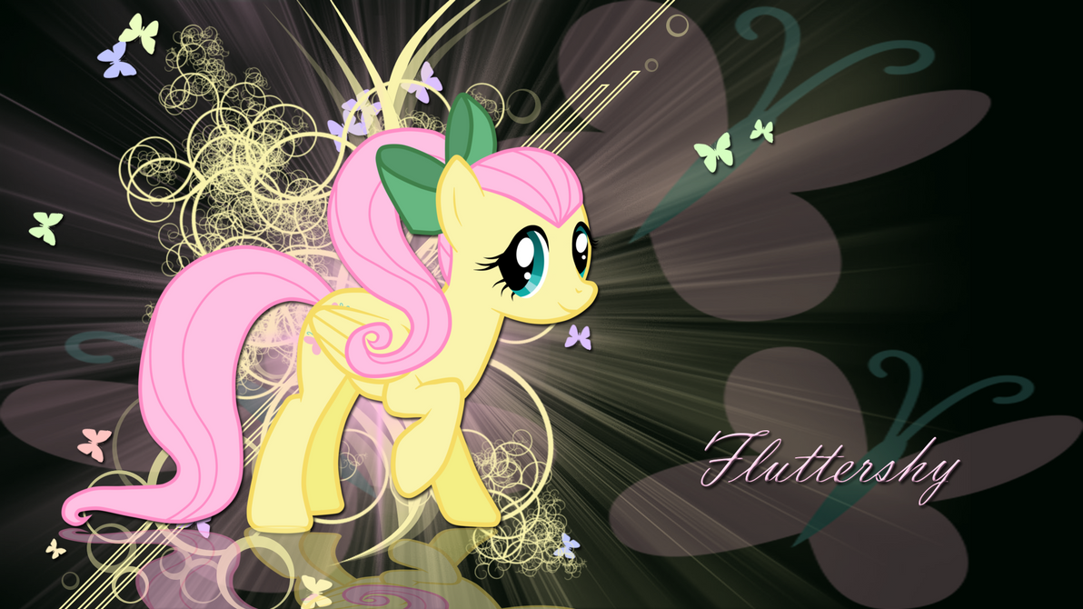fluttershy with ponytail wallpaper by leonbrony on deviantart