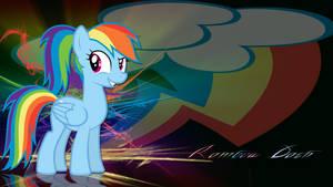Rainbow Dash with ponytail wallpaper