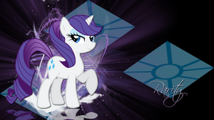 Rarity with ponytail wallpaper by LeonBrony