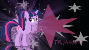 Twilight Sparkle with ponytail wallpaper