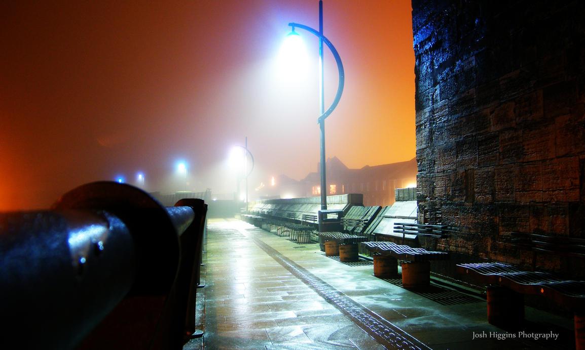 Old Portsmouth Walk, Fog by JoshHiggins